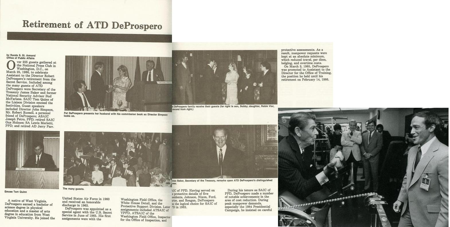 Robert DeProspero: in the Secret Service 1965-1986